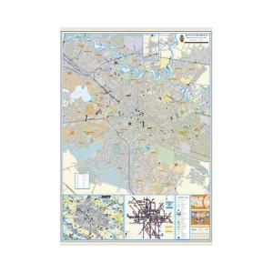 Harta Bucuresti 100 x 140 cm pe panou de pluta