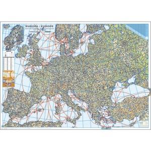 Harta Europei fizica 100 x 140 cm, Scara 1:3,5 Mil