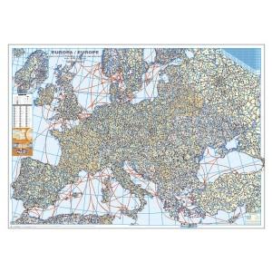 Harta Europei politica si rutiera 100 x 140 cm, Scara 1:3,5Mil