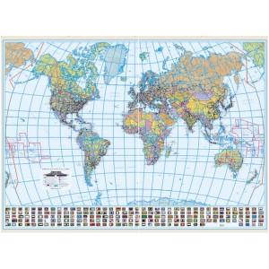 Harta Lumii Politica 100 x 140 cm, scara 1:30 mil
