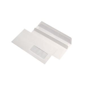 Plic DL 110x220 alb, autoadeziv cu fereastra dreapta