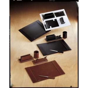 Set de birou 4 piese din piele ecologică simplu