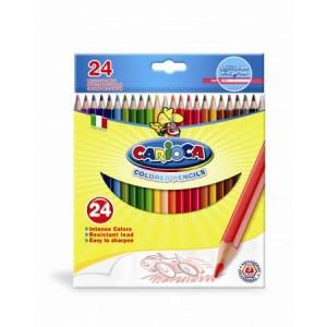 Set creioane colorate hexagonale Carioca, 24 bucati