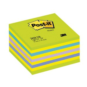 Cub notite adezive 3M Post-it Lolipop 450 file, culori pastel