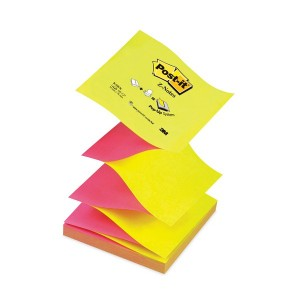 Notite adezive 3M Post-It Z, R330 galben-roz