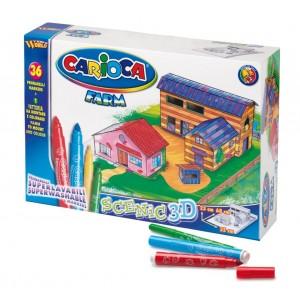 Set de colorat Carioca Puzzle 3D Ferma
