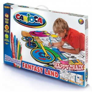 Set desen Happy train Carioca, 72 piese