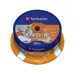 DVD-R printable 25buc/bulk Verbatim
