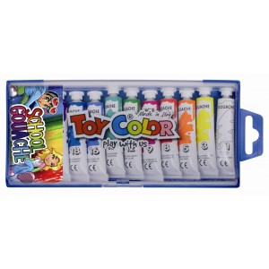 Set tempera la tub Toy Color, 12 culori