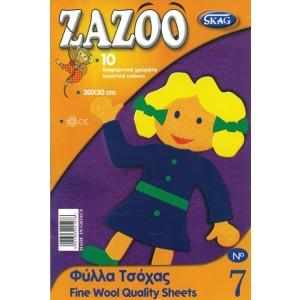 Material pentru colaje Zazoo lana - fetru
