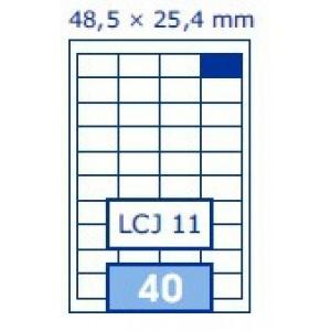 Etichete autoadezive Aero 40/A4, 48.5x25.4