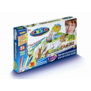 Set de colorat Carioca Puzzle Jungle