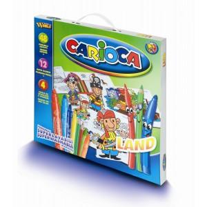 Set de colorat Carioca Land, 60 piese