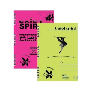 Caiet Pigna Basic A5 cu spira 80 file