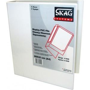 Caiet mecanic Skag cu foaie de prezentare, A4 4 inele, alb