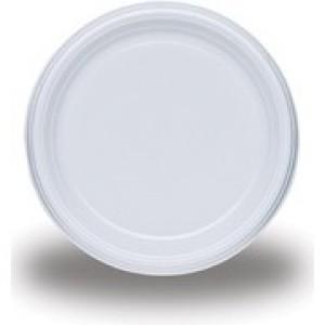 Farfurii albe plastic 50 buc