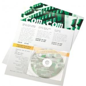 Set buzunare autoadezive 3L Office pentru CD-uri