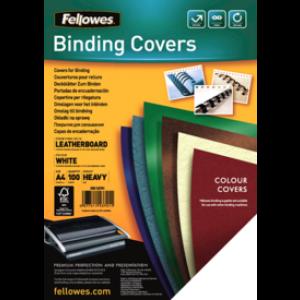 Coperti de carton imitatie piele Fellowes A4