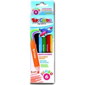 Set creioane Toy Color Jumbo colorate , 6bucati