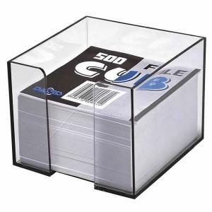 Cub de hartie alba si suport transparent