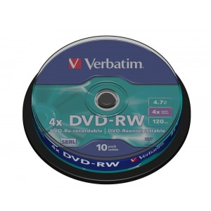 DVD-RW re-recordable serl Verbatim