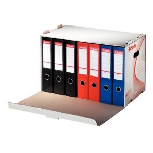 Container pentru arhivare Esselte Standard alb, pentru 6 bibliorafturi