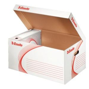 Container pentru arhivare si transport Esselte Standard cu capac alb, 255mm