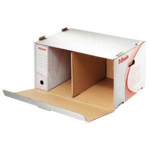Container pentru arhivare Esselte Standard cu deschidere frontala, alb