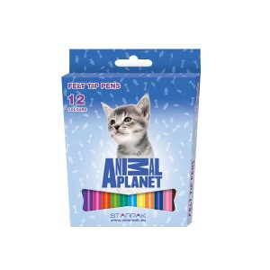 Set carioci Starpack Animal Planet, 12 culori