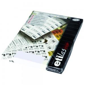 Etichete autoadezive Etilascop 117/A4 rotunde, albe
