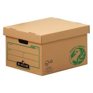 Container arhivare Fellowes R-Kive din carton reciclat pentru 4 cutii