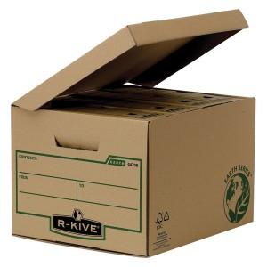 Container arhivare Fellowes R-Kive din carton reciclat, pentru 4 cutii