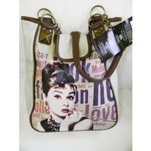 Geanta cu imprimeu Audrey Hepburn