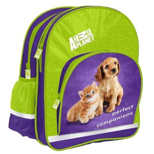 Ghiozdan Starpack Animal Planet Cute Cat&Dog, verde