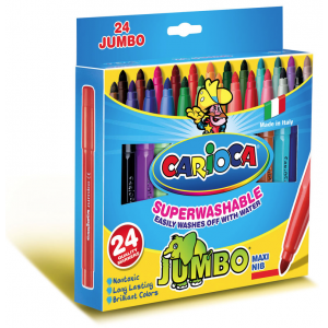 Set carioci Carioca Jumbo, 24 bucati
