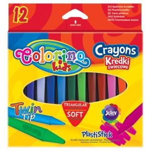 Set creioane cerate Colorino cu 2 capete, 12 bucati