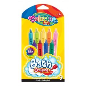 Set creioane colorate Colorino pentru baie, 9 bucati