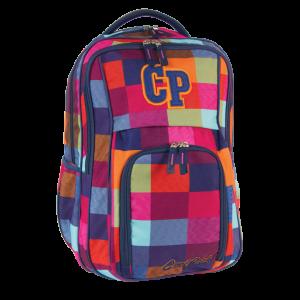 Ghiozdan Colorino Cool Pack cu 3 fermoare, patratele