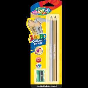 Set creioane colorate Colorino Jumbo rotunde, 2 bucati