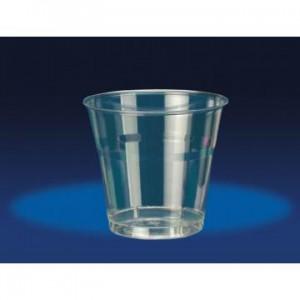 Pahare plastic transparente Cristal, 25 buc / set