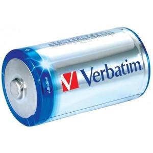 Set baterii R14 C Verbatim alkalina 1.5V, 2bucati