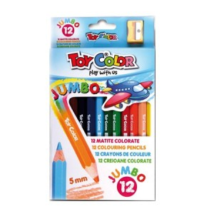 Set creioane Toy Color Jumbo colorate