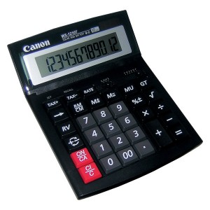 Calculator de birou Canon WS1210T, 12 digiti