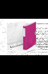 Caiet mecanic Leitz Active WOW SoftClick, 4 inele, roz metalizat
